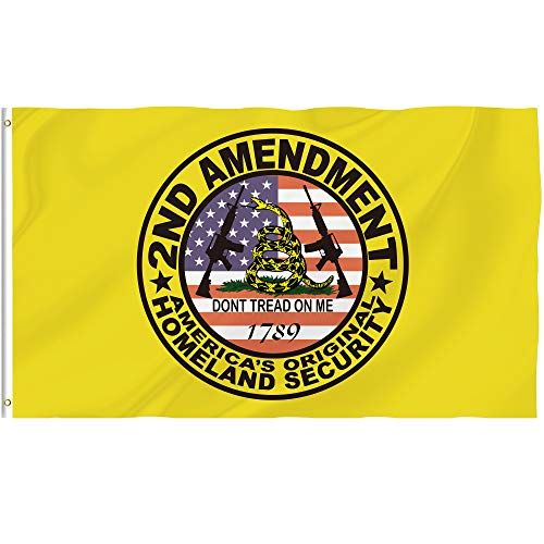 Bonsai Tree Don't Tread On Me Gadsden Flag 3x5 Ft, Double Sided and Double Stitched American Colonial Flags with Brass Grommets, 2nd Amendment Army Garden House Outdoor Banners