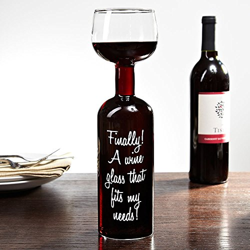 Giant Wine Bottle Wine Glass by HomeWetBar (Finally A Wine That Fits My Needs)