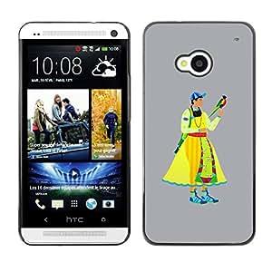 Be Good Phone Accessory // Dura Cáscara cubierta Protectora Caso Carcasa Funda de Protección para HTC One M7 // Middle Ages man