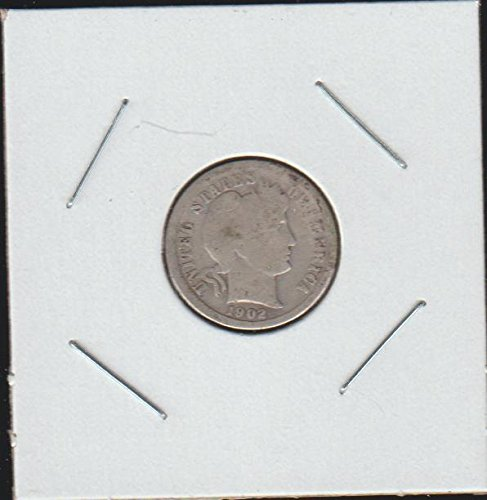 1902 O Barber or Liberty Head (1892-1916) Dime Very Good