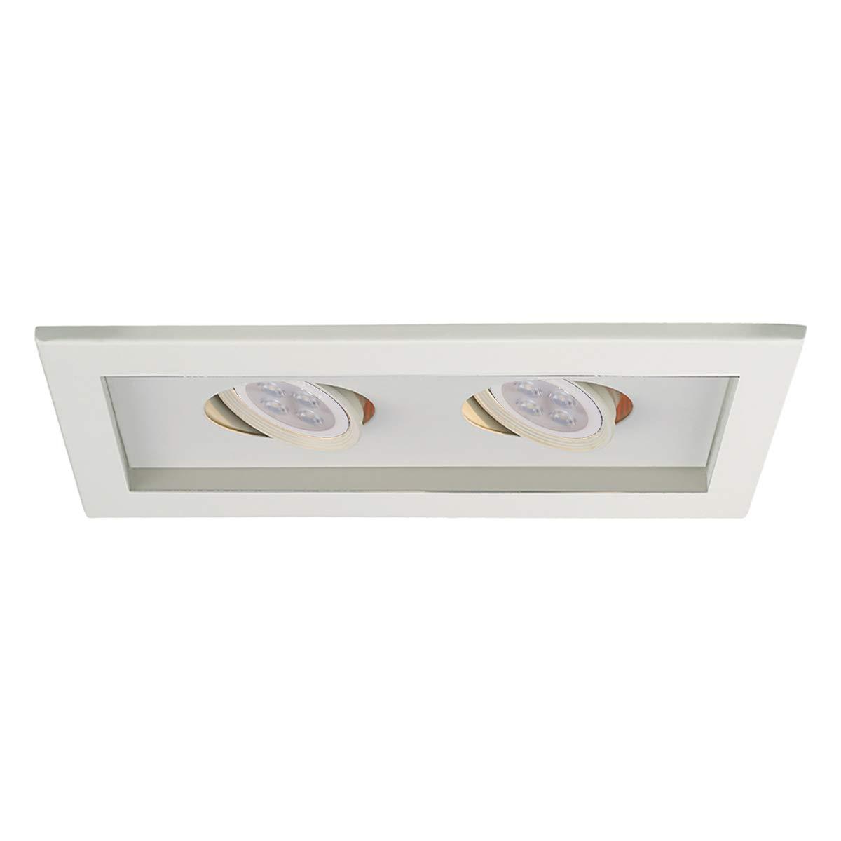 WAC Lighting MT-216LED-WT//WT Low Voltage Multiple Two Trim LED Recessed Light