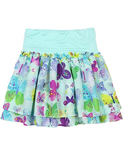Deux Par Deux Girls Skirt - Deux par Deux Girls' Printed Skirt Miss Butterfly, Sizes 7-12 - 12