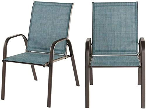 Mix and Match Dark Taupe Steel Sling Outdoor Patio Dining Chair