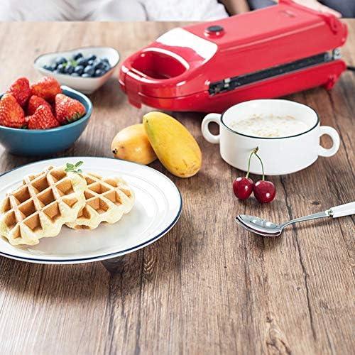 JZH-kitchen Appareil 5 en 1 Gaufrier Et Appareil À Sandwichs Plaques Antiadhésives Et Interchangeables Grande Puissance De 700W, Thermostat Automatique