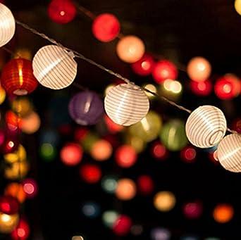 Fiesta Cumplea/ños Navidad y Boda.8 20 CM 12 Piezas Linterna de Papel Blanco,Linterna de Papel Redonda Decorada