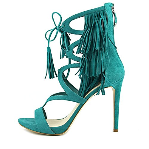 Guess Ankle Strap Sandals (GUESS Womens Abria Open Toe Casual Ankle Strap Sandals, Green Suede, Size 5.5)
