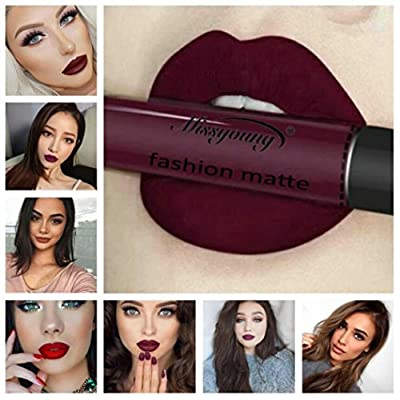 Outtop Halloween Waterproof Matte Liquid Lipstick All Day Lipcolor 9 Color Set (8#H) : Beauty