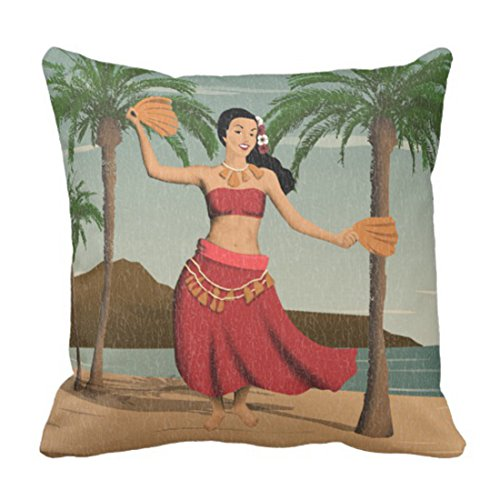 Emvency Throw Pillow Cover Hawaii Hawaiian Vintage Hula