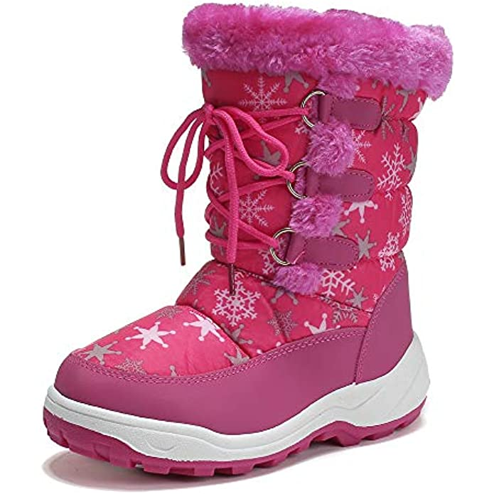 peggy piggy Boy's Girl's Winter Boots Outdoor Waterproof Cold Weather Snow Boots Warm Shoes(Toddler/Little Kid)