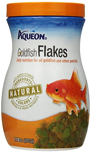 Goldfish Aquarium Flake Food - Aqueon Goldfish Food Flakes, 7.12-Ounce