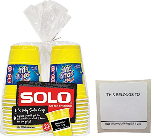 Solo Yellow Write Party Stickers product image