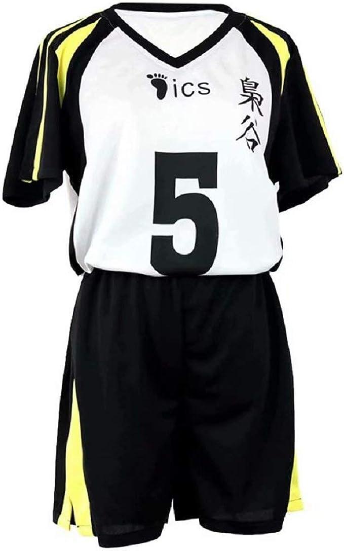 5 jersey Uniformi cosplay di Haikyuu Bokuto Koutarou e Akaashi Keiji Anime Squadra di pallavolo Costume Uniforme Abbigliamento sportivo Festa di Halloween Cosplay Fukurodani Academy No 4 and No