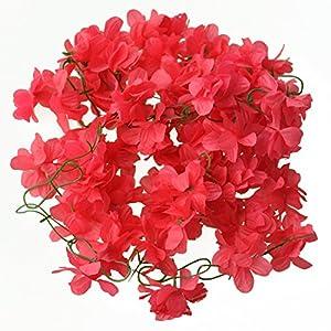 Xigeapg Wedding Home Decor Artificial Fake Azalea Flower Vine Plants Garland 2M (red) 103