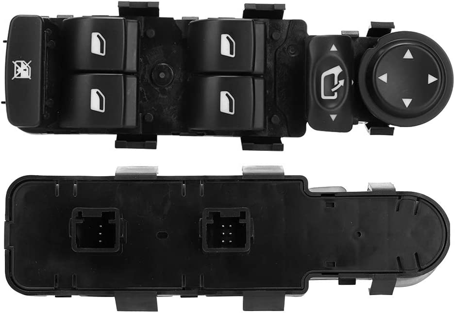 interruptor del control del elevalunas el/éctrico del autom/óvil apto para C4 2004-2010 6554.HA Conducci/ón con la mano izquierda Interruptor principal del elevalunas el/éctrico