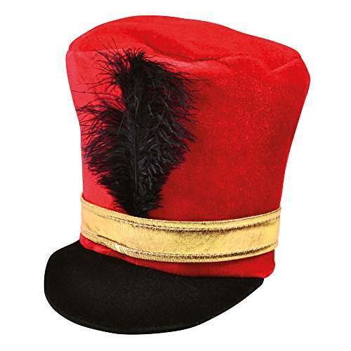 Bristol Novelty BH530 Soldier Hat Red, One Size