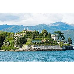 Formal garden on the south end of Isola Bella Stresa Borromean Islands Lake Maggiore Piedmont Italy Poster Print by Panoramic Images (36 x 24)