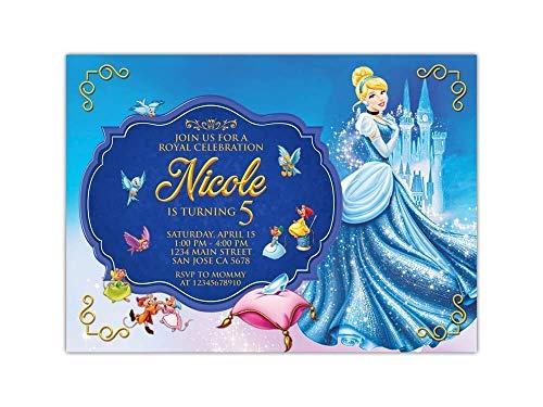 Custom Cinderella Birthday Party Invitations for Kids, 10pc-60pc 4