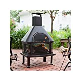 High Quality Outdoor Fireplace   Wood Burning Outdoor Fireplace With Smokestack; Gather  Around The Fire In Your Backyard With This Modern Outdoor Fireplace