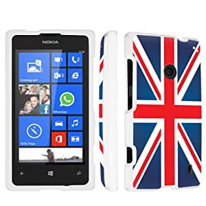 SkinGuardz Nokia Lumia 521 Full Protection Hard Case - (Union Jack White)