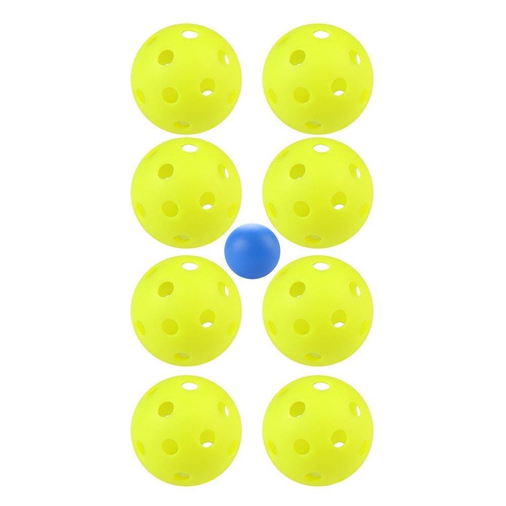 Goutoports No.1 Premium 8 Pack Pickleballs Green With One Gift Ball