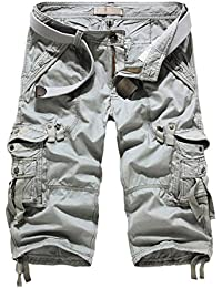 Men's Casual Slim Fit Cotton Cargo Shorts