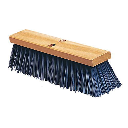 Carlisle 3611401814 Flo-Pac Hardwood Block Floor Sweep, Heavy Polypropylene Bristles, 4-1/2