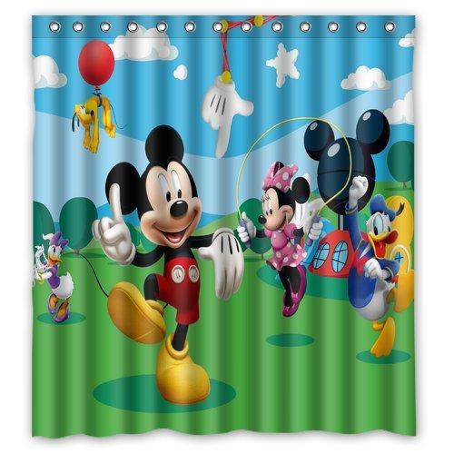 ScottShop Custom Mickey Mouse Club House Shower Curtain W...