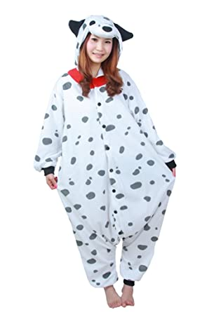 Dalmatian Dog Best Quality Unisex Fleece Adult Animal Onesies,Cute Cosplay Costume Onesies Pyjamas Pijamas