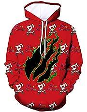 KUESANT Preston Fire Nation Playz Gamer Flame Hoodies for Teen Boys Girls 3D Printed Pullover Sweatshirts Hooded Tops