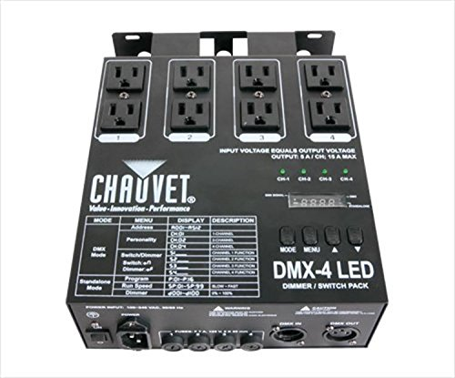 CHAUVET DJ DMX-4 LED Lighting Dimmer/Relay Pack | Lighting Accessories by CHAUVET DJ