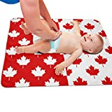 Crib and Change Table Canada GLing-LIFE Red and White Canada Maple Leaf Pattern Portable Diaper Baby Changing Pad Multi-Purpose Travel Changing Mat