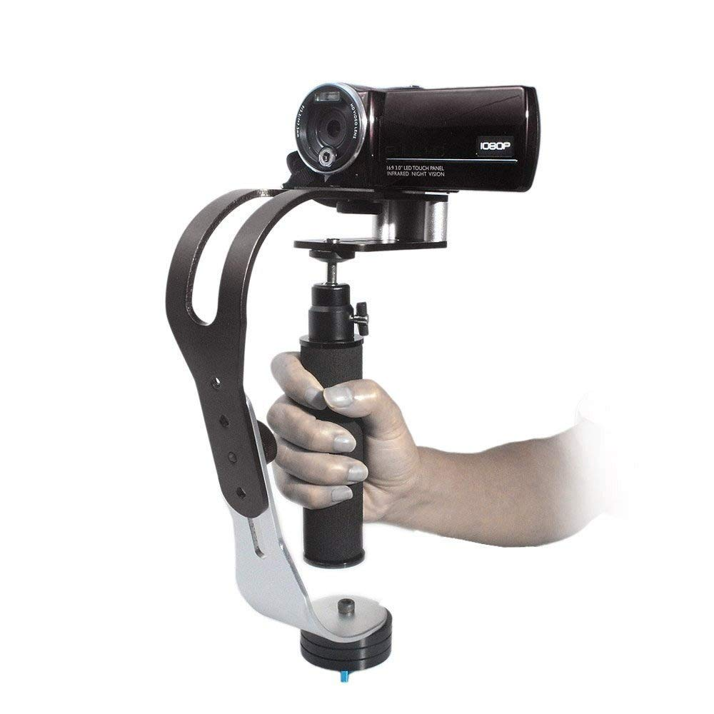 Senhai Pro Handheld Steadycam Video Stabilizer Handle Grip Steady Support for Canon Nikon Sony Camera Cam Camcorder DV DSLR CSS1--Black (Sponge Handle Version) UF007H-stabilizer-Black