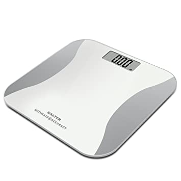 Salter Ultimate Accuracy Electronic Digital Bathroom Scales, Measure 50g  Increments - Accurate Readings + Curve Design, Easy to Read Display, Weigh
