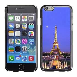 "For Iphone 6/6S (4.7 INCH) , S-type Arquitectura Torre Eiffel Luna Noche"" - Arte & diseño plástico duro Fundas Cover Cubre Hard Case Cover"