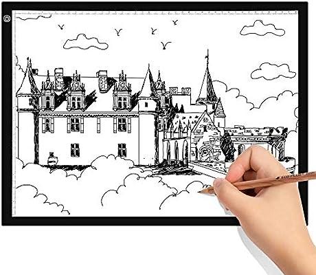 Himimi A3 Mesa de Luz Dibujo A3 LED Caja de Luz Portátil con USB ultra fina para diseño para Artistas, Dibujo, Animación: Amazon.es: Hogar