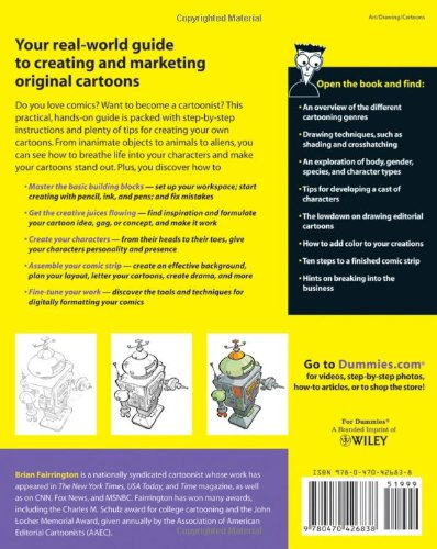 Drawing Cartoons And Comics For Dummies Brian Fairrington
