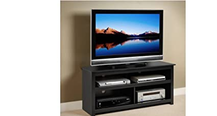 Black Entertainment Center Tv Stand Console For Flat Screens , Plasma And  Other Brands. A