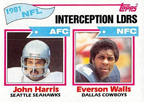 (1982 Topps Football #261 John Harris/Everson Walls Seattle Seahawks/Dallas Cowboys 1981 Interception Leaders)