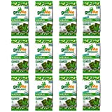 gimMe Snacks | Organic Premium Roasted Seaweed | Wasabi | Gluten-Free & Non-GMO | 0.17 Ounce (5g) - (Pack of 12)