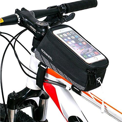 Fahrrad Rahmentaschen, Intsun® Radfahren Rahmentaschen, Wasserabweisende Fahrradtasche , Steuerrohr Taschen Packung, Handy Handyhalterung, Navigation Halterung ,Kopf Schlauchbeutel, Oberrohr Fahrrad H