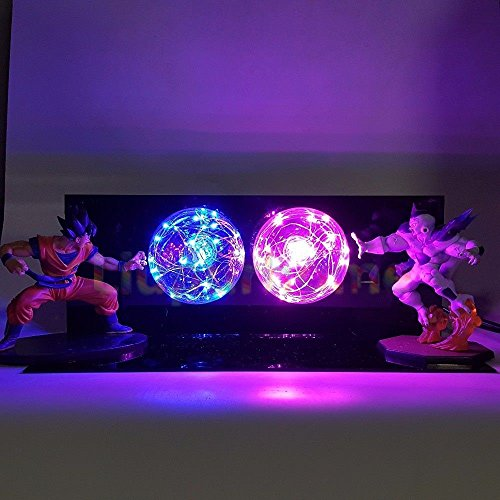 KAKALIN Dragon Ball Z Son Goku & Freeza Power up Led Light Lamp Action Figure Whole Set (Dragon Ball Z Majin Vegeta Vs Majin Buu)