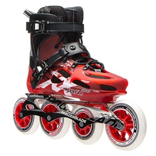 Rollerblade Maxxum 100 Unisex Adult Fitness Inline Skate, Red and Black, Premium Inline Skates