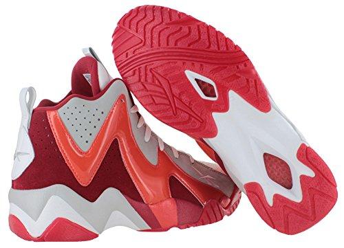 Reebok Kamikaze Ii Mi Chaussures De Basket-ball Pour Hommes Modèle V61434 Blanc / Acier / Excellent Re
