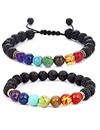 Men Women 8mm Natural Stone Beads Elastic Yoga Beaded Bangle Bracelet