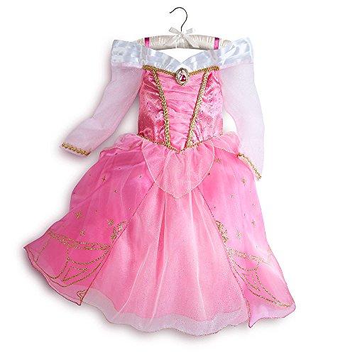 [Disney Store Aurora Sleeping Beauty Costume Dress Halloween Size S Small 5 - 6 5T] (Top Five Halloween Costumes)
