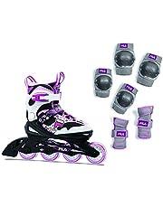 FILA J-ONE Combo I Set van 2 skates & beschermers I in grootte verstelbaar I