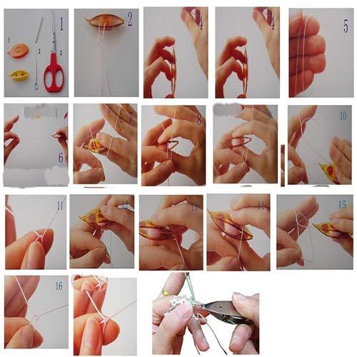 Belong Pack of 2 pcs Plastic Tatting Shuttle for Hand Lace Making Craft Tool L15