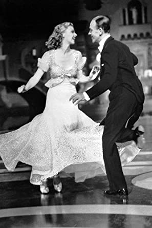 Fred Astaire B W Dancing With Ginger Rogers 24x36 Poster At Amazon S Entertainment Collectibles Store