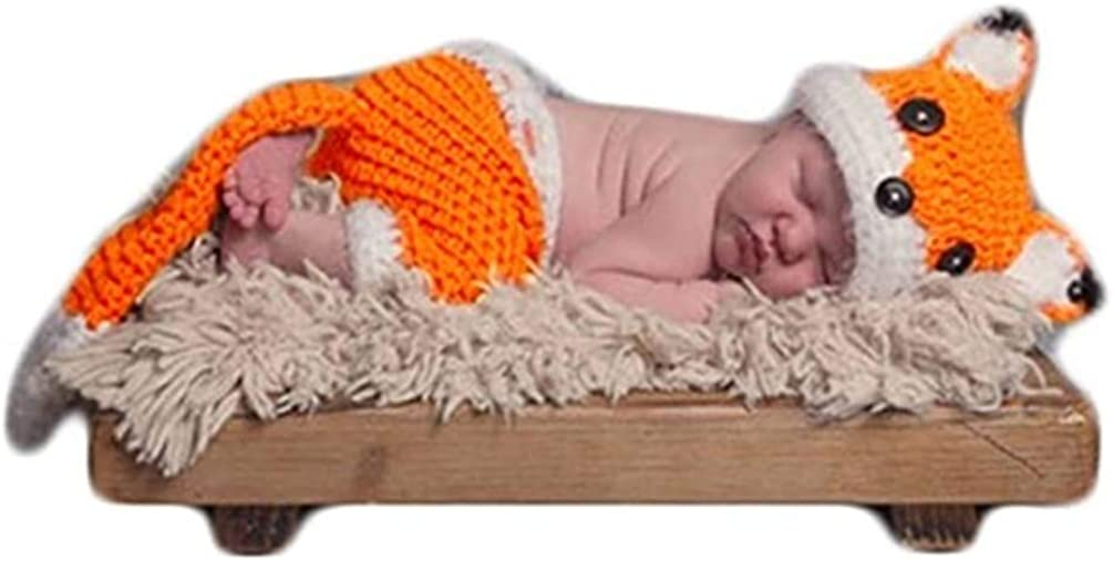 Newborn and Sitter sizes Photography Prop Fox Outfit for Newborn and Baby Photography