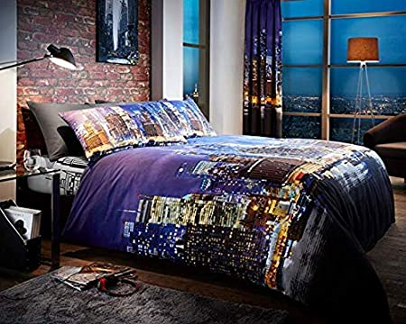 Duvet Cover with Pillow Case Quilt Cover Beding Set 5th Avenue New York NewDenim
